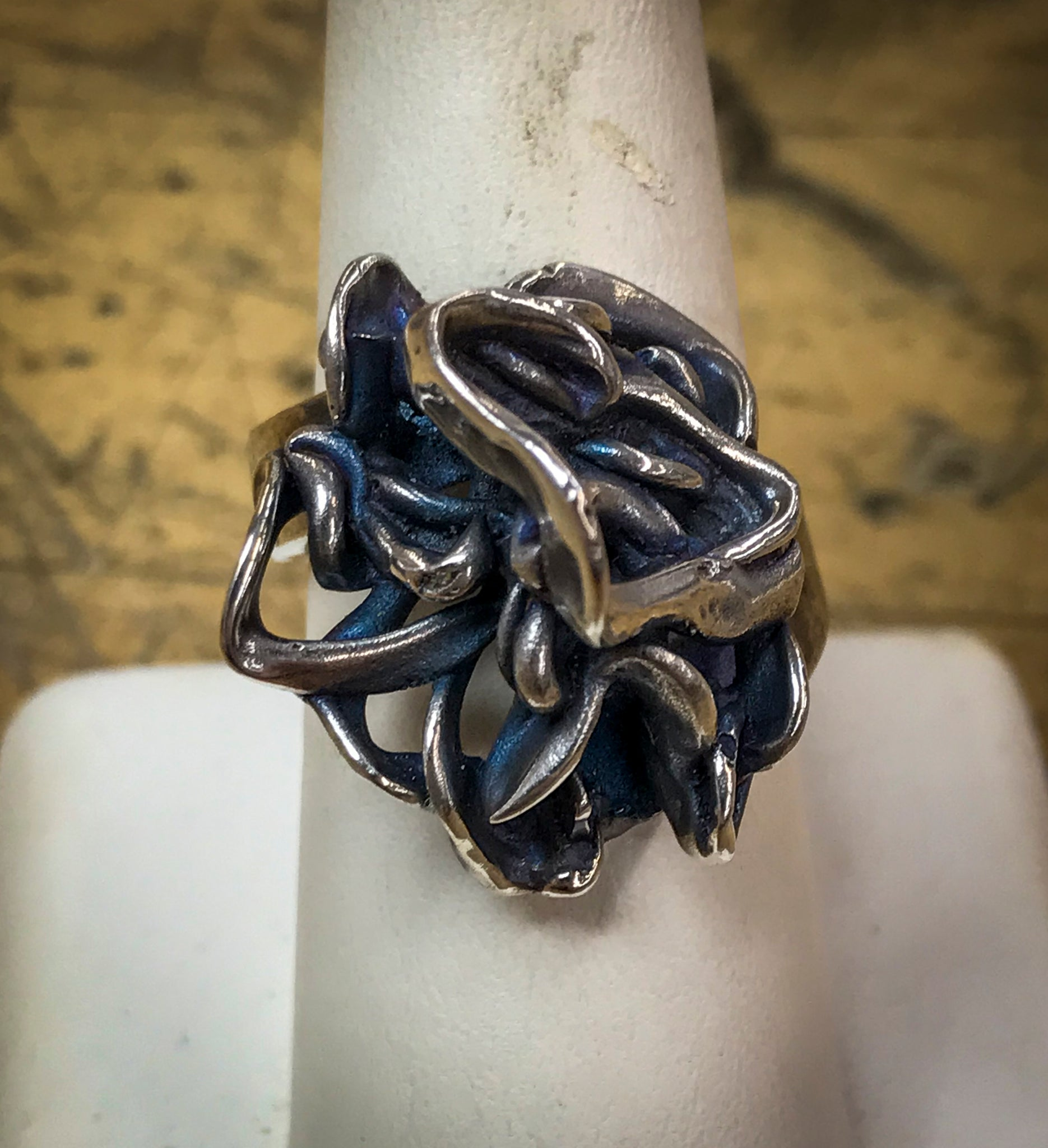 Freeform Cast Ring - Medium design
