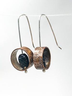 Copper Pipe Earrings
