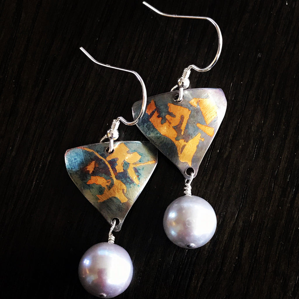 Keum boo pearl earrings