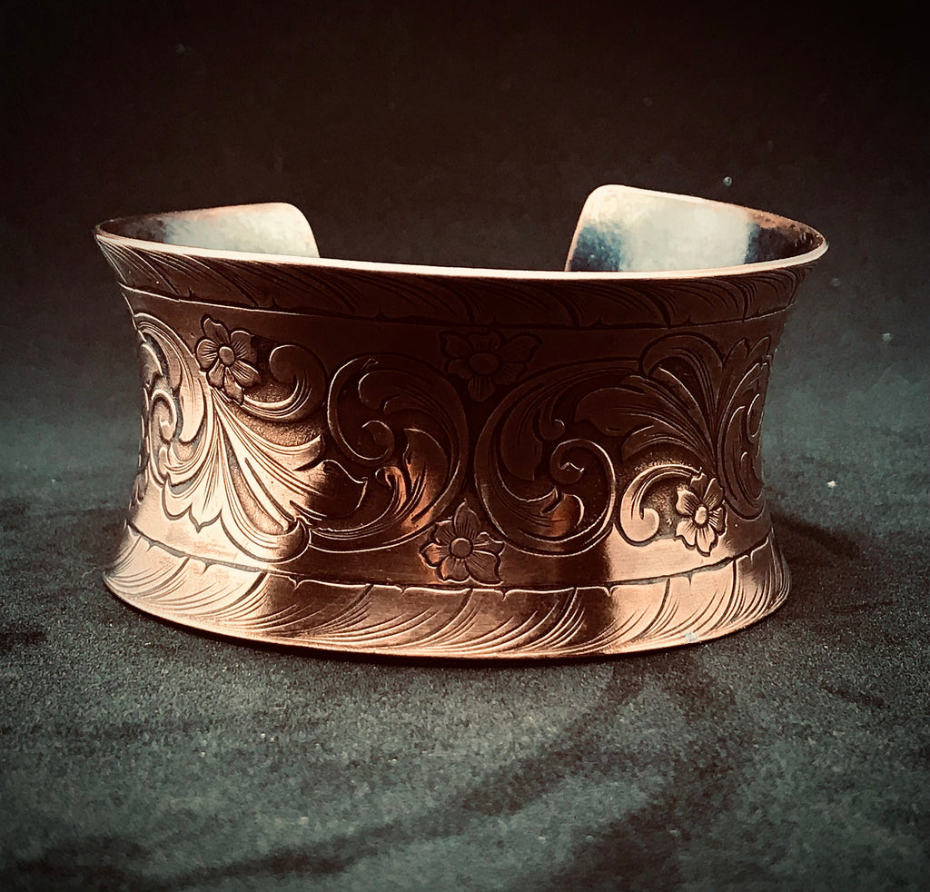 Anticlastic Art Deco cuff Bracelet (extra thick)