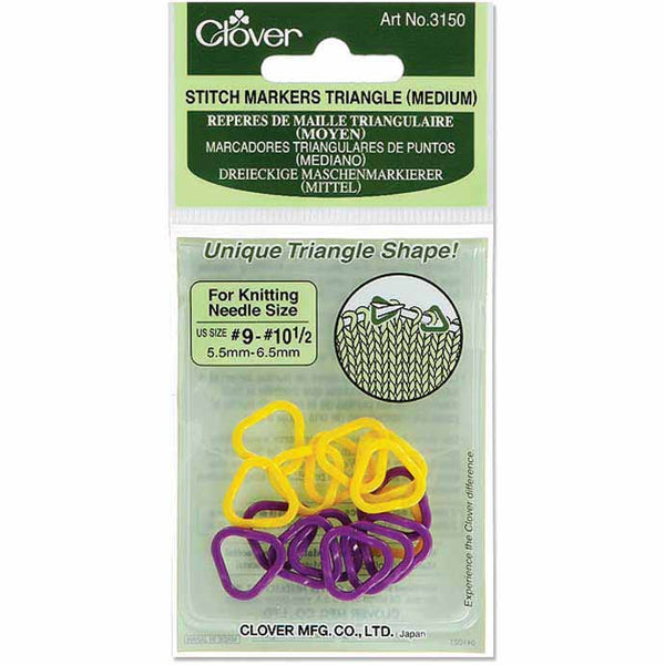Clover Triangle Medium Stitch Markers 3150