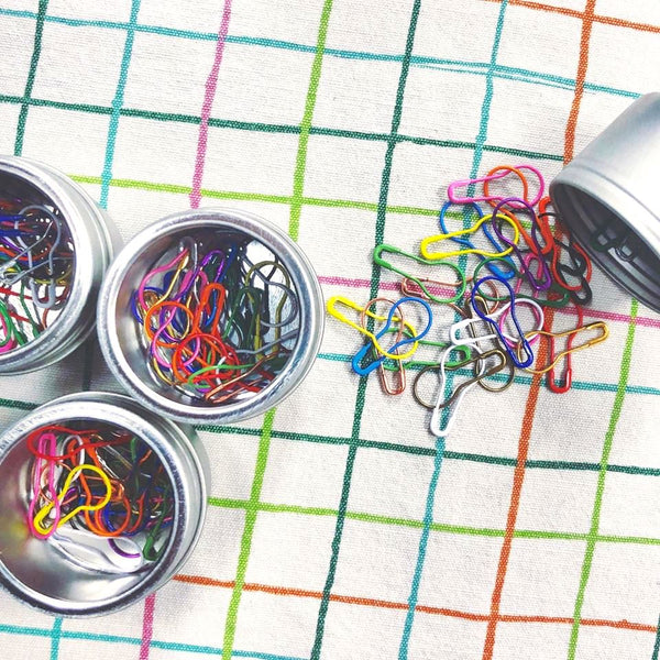 Rainbow Bulb Safety Pin Stitch Markers