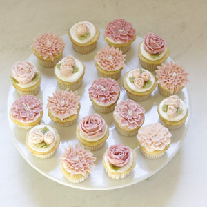 Assorted Buttercream Flower Cupcakes