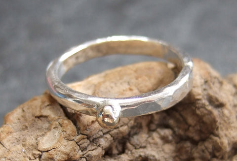 9 carat stacking ring