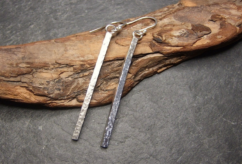 Long square earrings