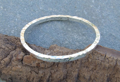 Square  sterling silver bangle