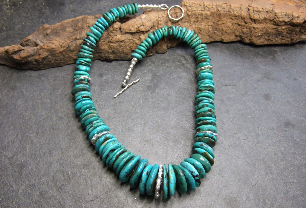 Turquoise necklace.