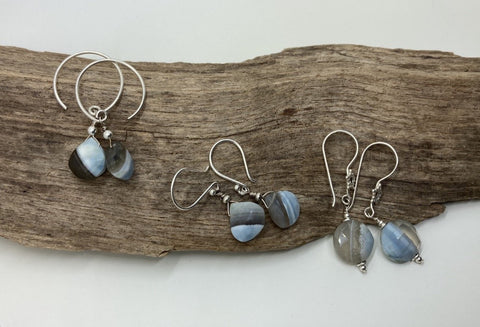 Blue  Oregon Opal earrings