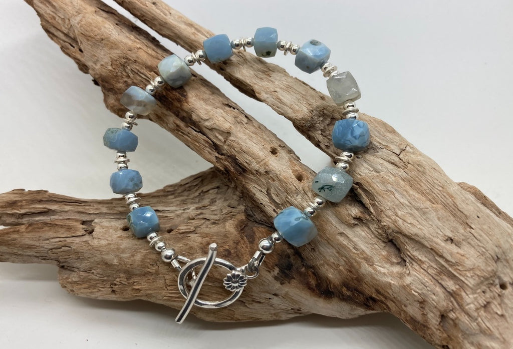 Blue Oregon opal bracelet