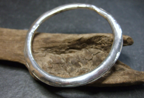 Donut  Sterling silver bangle