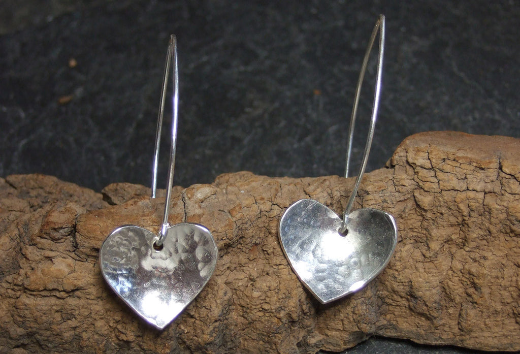 Heart silver  earrings