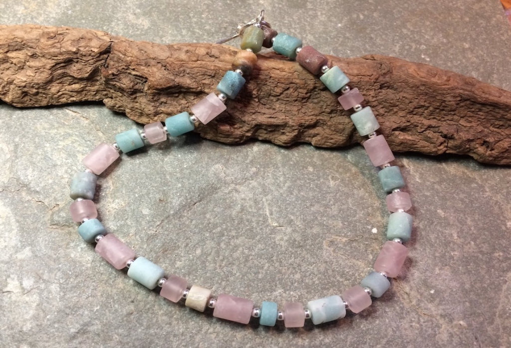 Morganite barrel necklace