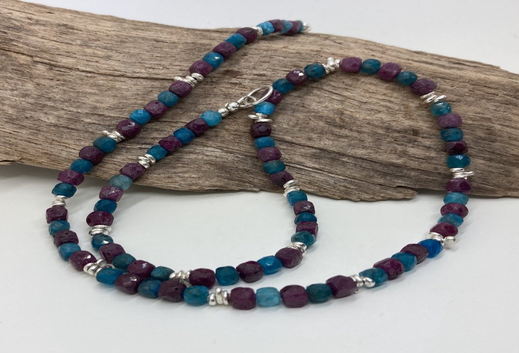 Ruby and Apatite necklace