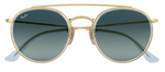 Afbeelding in Gallery-weergave laden, Ray Ban Round Double Bridge 3647 9123/3M
