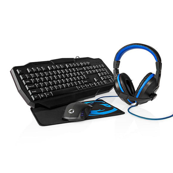 PC-Kit | Tastatur | Headset | Maus | Mauspad | 4-in-1 | Nedis