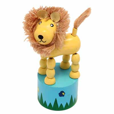 Wooden Push Up Toy - Lion