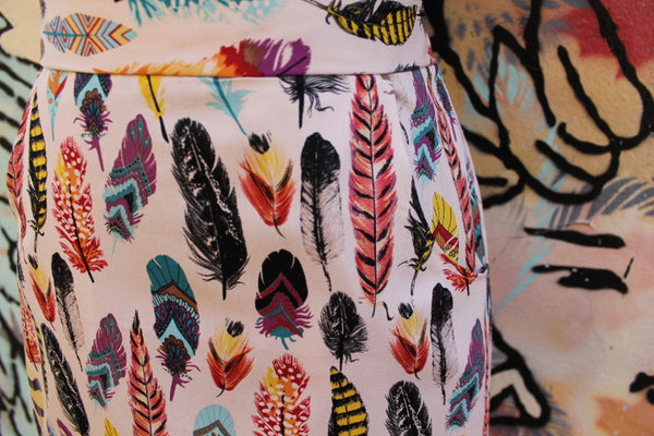 Feather A-Line Skirt WITH POCKETS