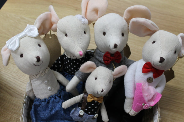 Mouse Family Soft Toy Doll