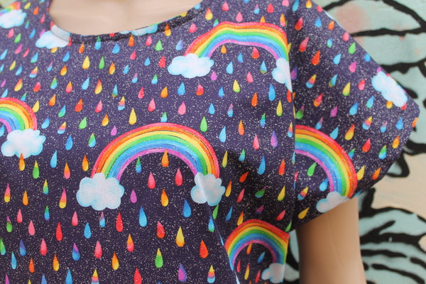 Rainbow Rain Boxy Top