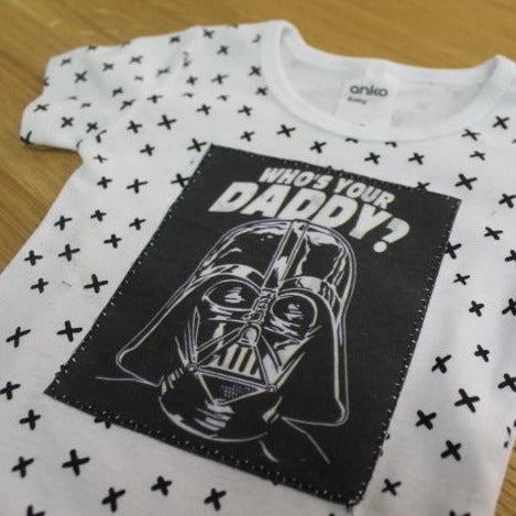 Whos Your Daddy Star Wars Applique Bodysuit