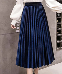 Pleated Velvet Skirts