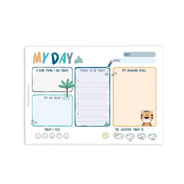 "Sprout and Sparrow ""My Day"" Planner Note pad design two"