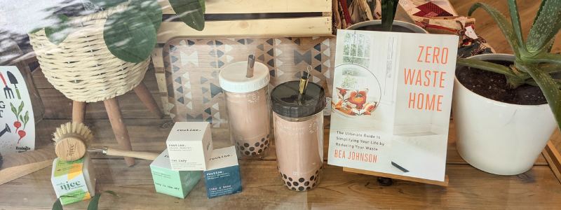 The Refill Stop window display
