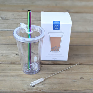 500ml Leak-Proof Insulated Reusable Bubble Tea Cup