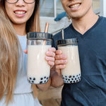 2-PACK Reusable Bubble Tea Cups (Black Lids)