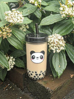 2-PACK Reusable Bubble Tea Cups (Panda/Cat)
