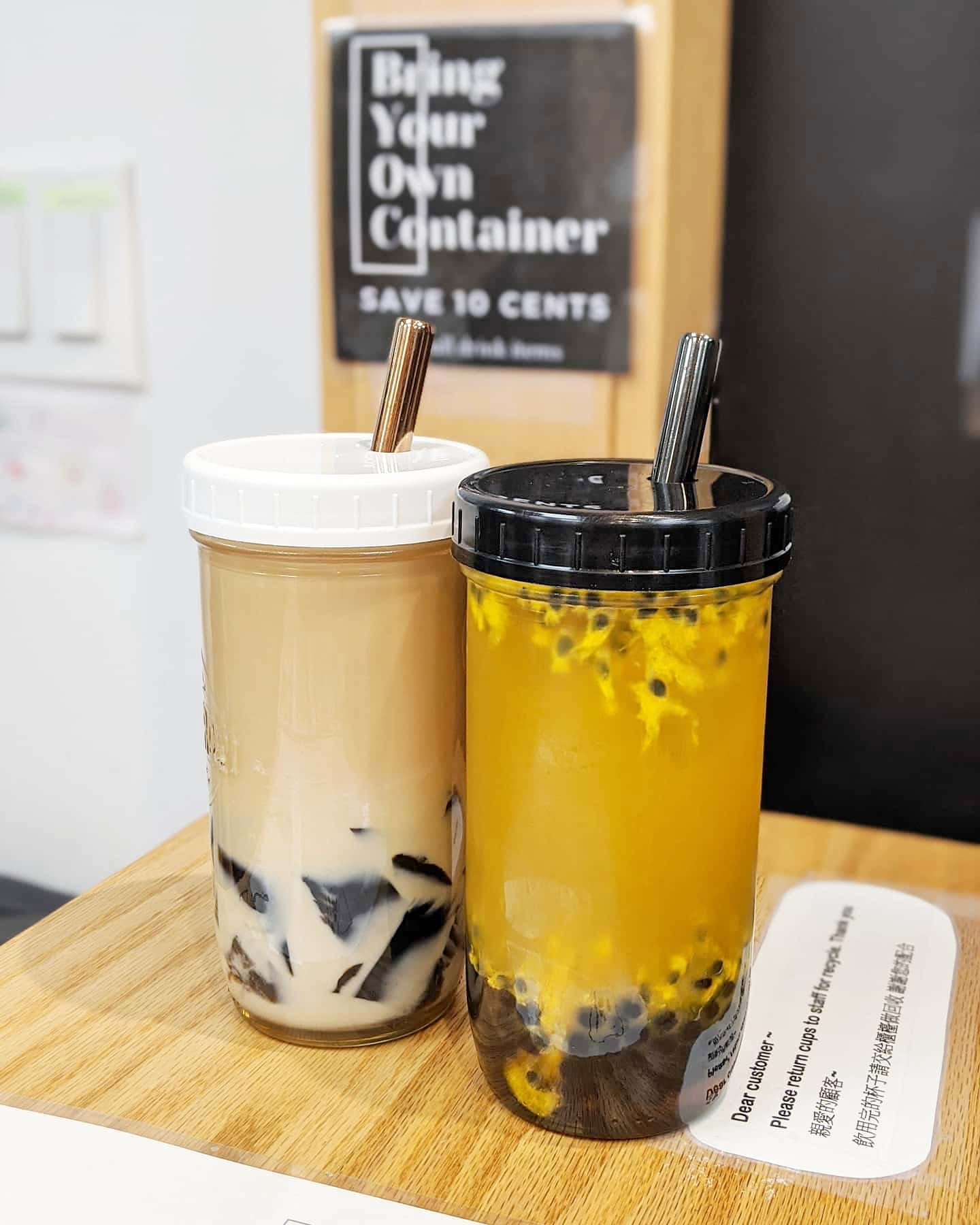 2 PACK: Reusable Bubble Tea Cups (Mixed Lids)