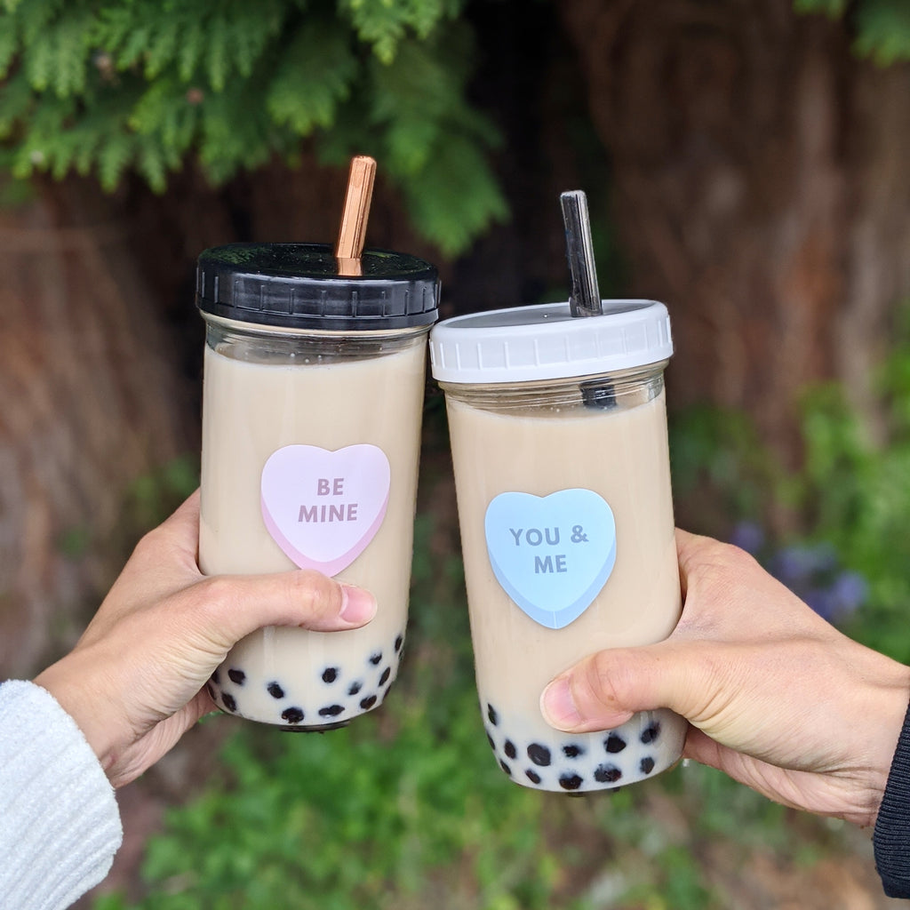 2-PACK Reusable Bubble Tea Cups (Be Mine/You & Me)