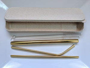 Durable Carry Case with Stainless Steel Straw Set for Bubble Tea and All Drinks