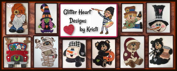 Glitter Heart Designs By Kristi