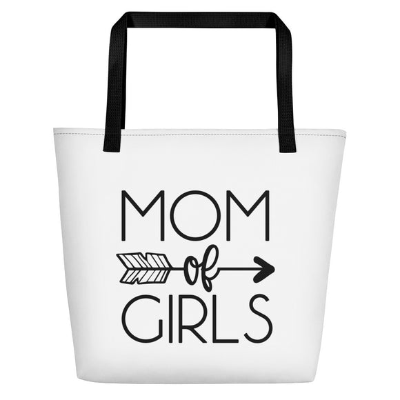 Mom of Girls Beach Bag, Mom life, Mom beach bag, gift for mom, Mother's Day