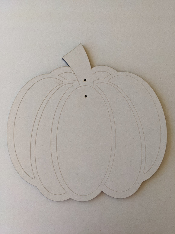 Pumpkin Door Hanger Wood Blank - 20