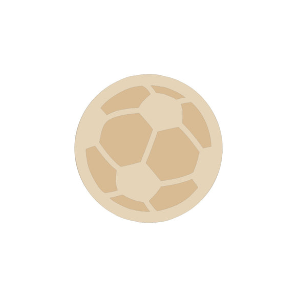 Soccer ball wood blank (2 pieces) - 6