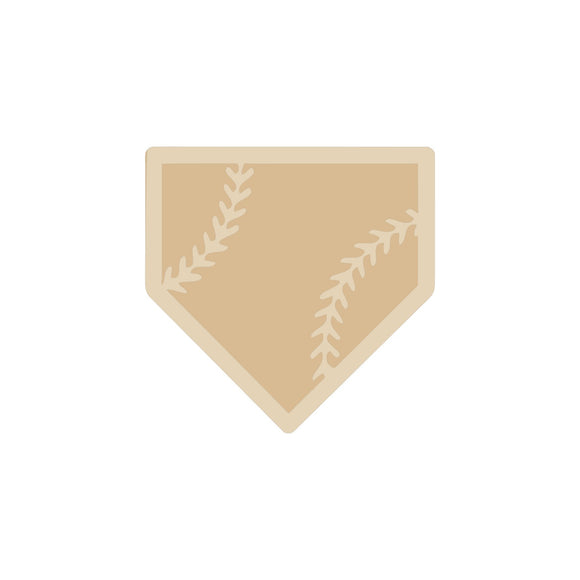 Home Plate Cutout (2 pieces)