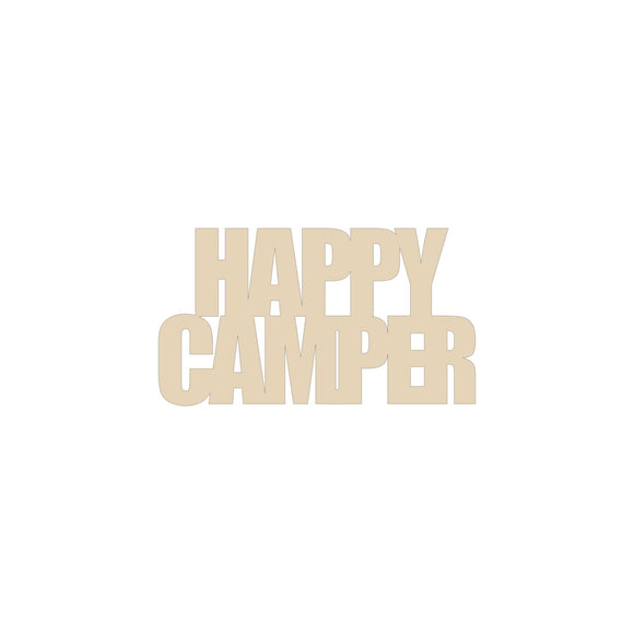 Happy Camper wood blank - 12