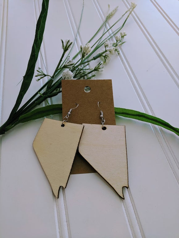 Nevada - Laser cut wood earrings - 2
