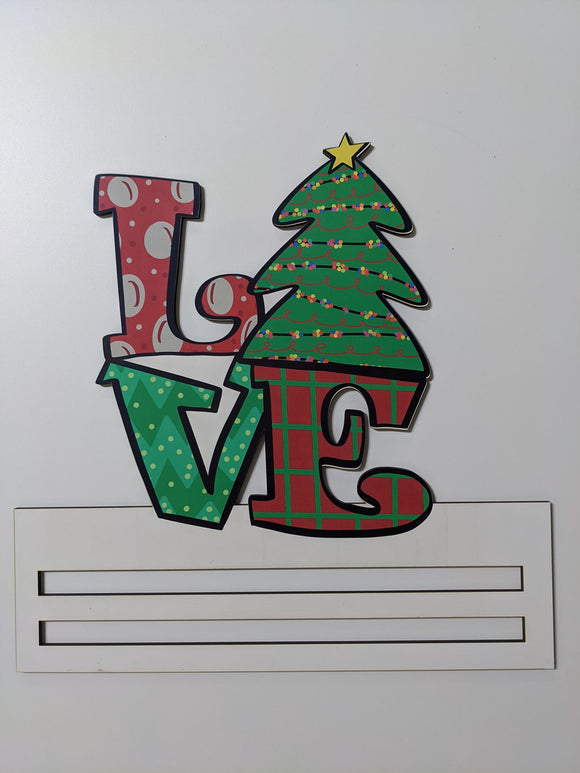 Christmas Love Printed Wreath Rail