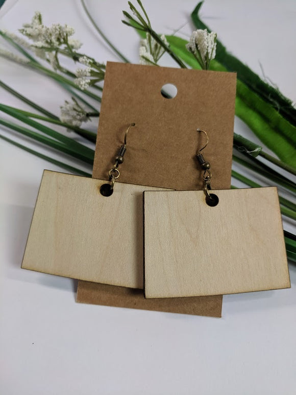 Colorado - Laser cut wood earrings - 2