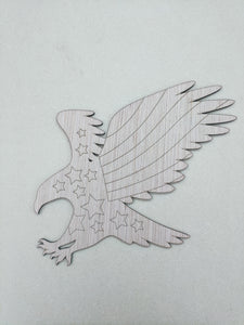 Independence Eagle Wood Cutout - Various Sizes
