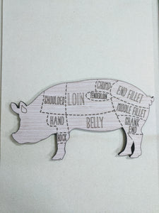 "Pork Chart - 6"" up to 20"""