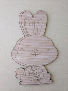 Bunny Rabbit with Carrot  - Various Sizes