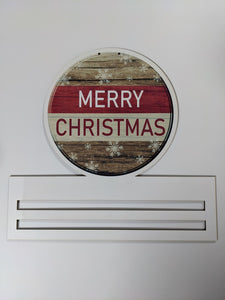 "Merry Christmas Printed Wreath Rail - 12"" or 20"""