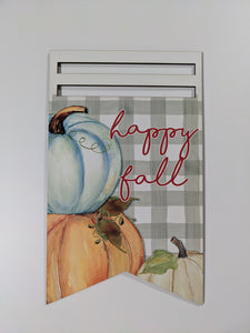 Happy Fall Bunting Printed Wreath Rail