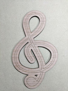 "Clef Music Note - 6"" up to 20"""