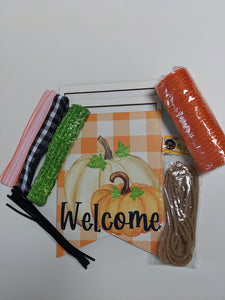 Welcome Pumpkin Bunting Wreath Rail Kit
