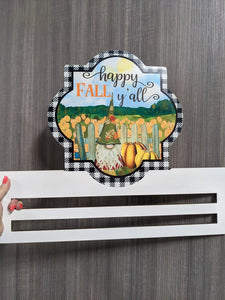Happy Fall Gnome Printed Wreath Rail